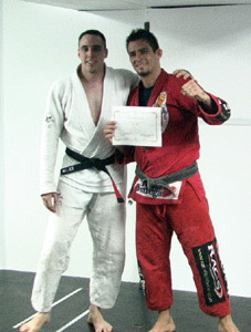 Gene Simco and Marcelo Nigue with Black Belt Certificate on 6/18/05